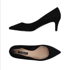 The Seller Black Suede Pointed Toe Pumps Size 35